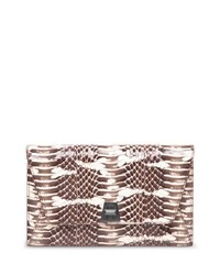 Akris Anouk Snakeskin Envelope Clutch Bag Rock