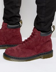 Dr. Martens Dr 939 6 Eye Suede Boots Red