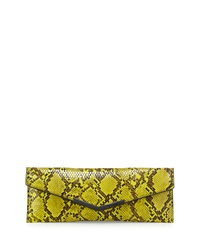 French Connection Liv Embossed Envelope Evening Clutch Bag Black Waxy
