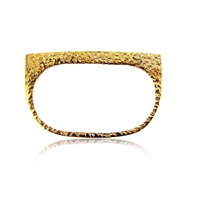 Maya Magal London Textured Double Plate Ring Gold