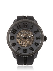 Tendence 3H Black Automatic Skeleton Watch