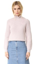 Rebecca Taylor Ruffle Turtleneck Pullover Ballet