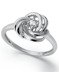 Wrapped In Love Diamond Ring 14K White Gold Diamond Knot Ring 1 10 Ct. T.W.