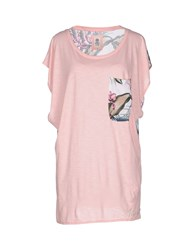 Franklin And Marshall Topwear T Shirts Women Light Pink