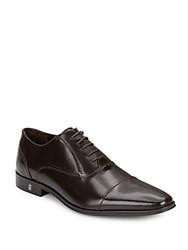 Versace Leather Oxfords Brown