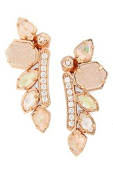 Kendra Scott Women's 'Madison' Crystal Ear Crawlers Rose Gold Champagne Mix