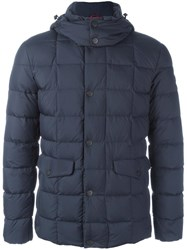 Fay Zip Up Padded Jacket Blue