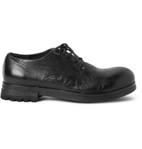 Marsell Washed Leather Derby Shoes Black
