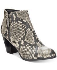 Styleandco. Style Co. Jamila Zip Booties Only At Macy's Women's Shoes Black White Snake