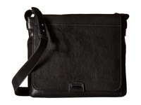Frye Chris Messenger Black Tumbled Full Grain Messenger Bags