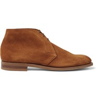 Edward Green Shanklin Suede Chukka Boots Yellow