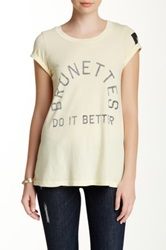 Rebel Yell Brunettes Do It Graphic Tee Yellow