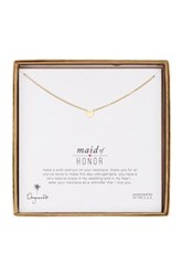 Dogeared 14K Gold Plated Sterling Silver Bridal Maid Of Honor Simple Heart Necklace Metallic