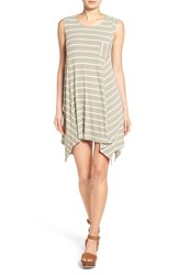 Women's Dee Elle Stripe Handkerchief Hem Tank Dress