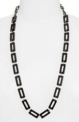 Women's L. Erickson 'Mimi' Link Necklace Black