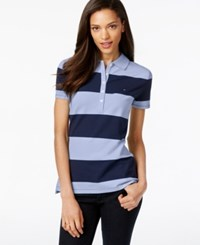 Tommy Hilfiger Rugby Striped Polo Top Classic White