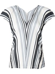 Pleats Please By Issey Miyake 'Deep Valley' Sleeveless Top White