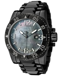 Invicta Men's Swiss Reserve Excursion Black Tone Stainless Steel Bracelet Watch 50Mm 0516
