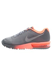 Nike Performance Air Max Sequent Cushioned Running Shoes Cool Grey Metallic Silver Bright Mango