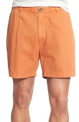 Men's Vintage 1946 'Snappers' Vintage Washed Elastic Waistband Shorts Texas Orange
