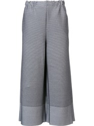Issey Miyake Wide Cropped Trousers Grey