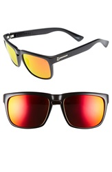 Electric Eyewear 'Knoxville' 56Mm Sunglasses Gloss Black Grey Fire Chrome