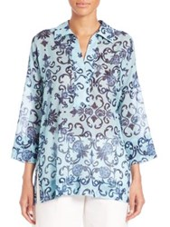 Escada Floral Tunic Blouse