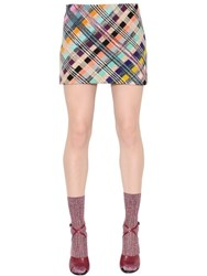 Missoni Loom Check Wool Knit Mini Skirt