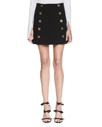 Chloe Button Front Mini Skirt Black