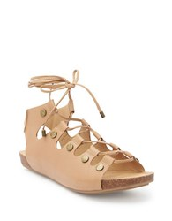 Me Too Nori Leather Sandals Brown