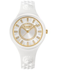 Versus By Versace Women's Fire Island White Silicone Strap Watch 39Mm Soq040015