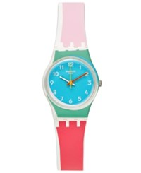 Swatch Women's Swiss Sport Mixer Multi Color Silicone Strap Watch 25Mm Lw146