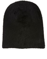 Barbisio Men's Slouch Knit Angora Blend Hat Black
