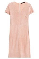 Steffen Schraut Avenida Suede Dress Rose