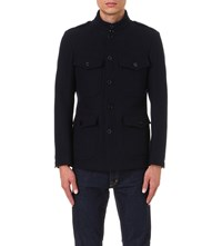 Tom Ford Wool Military Coat Navy