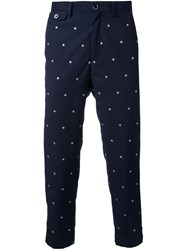 Education From Youngmachines Star Embroidered Chinos Blue