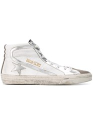 Golden Goose Deluxe Brand 'Slide' Hi Top Sneakers White