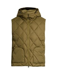 Mt. Rainier Design Mr61311 Hooded Quilted Down Gilet Green