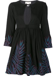 Mara Hoffman Embroidered Skater Dress Black