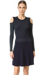 Versace Long Sleeve Knit Dress Navy
