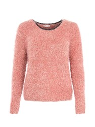 Lavand Basic Casual Sweater Pink