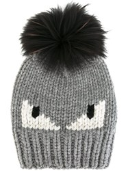Fendi Bag Bugs Beanie Grey