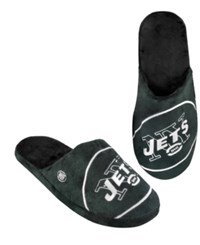 Forever Collectibles Men's New York Jets Big Logo Slippers Green Black