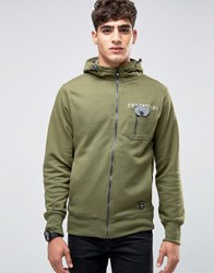 Firetrap Zip Through Hooded Sweat Green