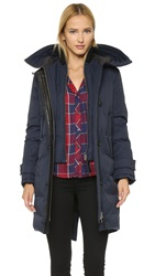 Mackage Villa Hooded Lux Down Jacket Navy