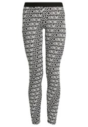 Moschino Underwear Basic Leggings Black White