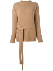 Joseph Belted Jumper Nude And Neutrals