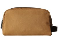 Michael Kors Grant Toiletry Holder Dark Camel Toiletries Case Taupe