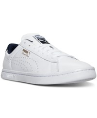 Puma Men's Court Star Crafted Casual Sneakers From Finish Line White Peacoat