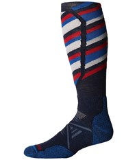 Smartwool Phd Ski Medium Pattern Navy Men's Crew Cut Socks Shoes